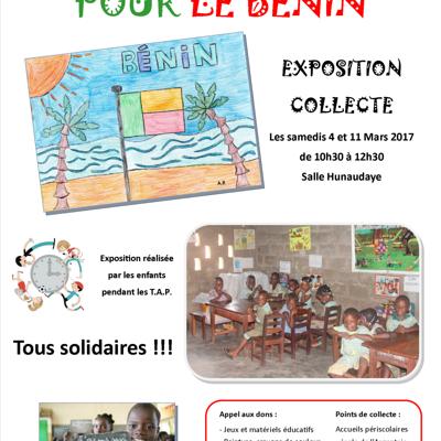 Découverte du Bénin et projet de solidarité : Exposition/collecte, samedis 4 et 11 mars