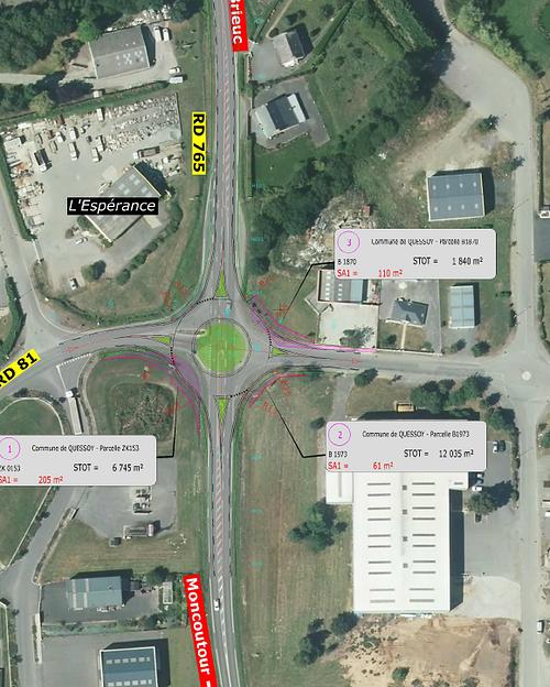 Procédure de Participation Publique : aménagement d'un carrefour giratoire situé zone de l'Espérance à Quessoy 0