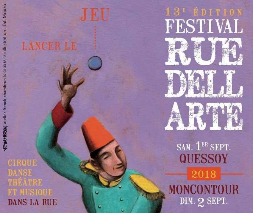festival rue dell arte, 13eme edition : lancer le jeu . samedi 1er septembre